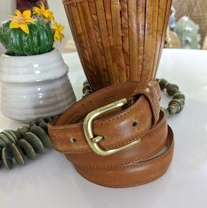 Coach British Tan Leather 36 belt 6600 Brass